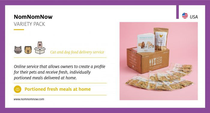 Cat and dog food delivery service