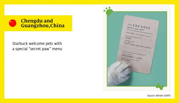 "Starbuck welcome pets with a special ""secret paw"" menu"