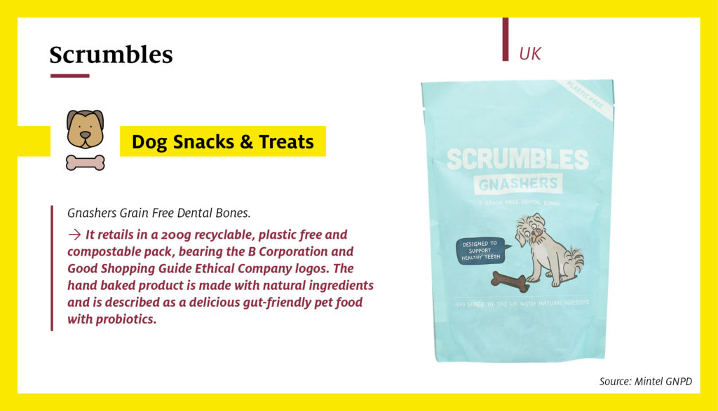 Scrumbles Gnashers Grain Free Dental Bones in a plastic free and compostable packaging (UK)