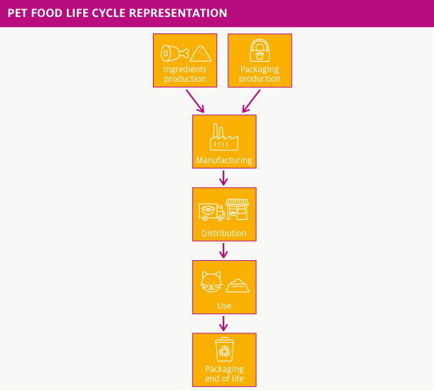 Example of a pet food life cycle